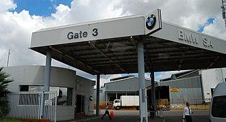 Rosslyn, Gauteng - BMW gate at Rosslyn in the city of Tshwane