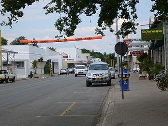 Tsumeb - Main road in Tsumeb