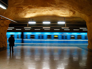 Akalla metro station - Image: Tunnelbanan i Stockholm, Magnus Froderberg