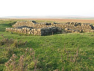 Turret (Hadrian's Wall) - The remains of Turret 33B