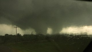 Multiple-vortex tornado Tornado comprising multiple vortices