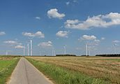 Tussen Waldfeucht en Saeffelen, wegpanorama met moderne windmolens foto3 2016-08-11 14.31.jpg