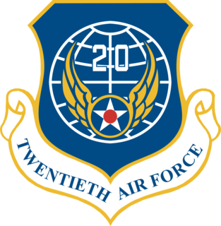 Twentieth Air Force Numbered air force of the United States Air Force responsible for strategic missile forces