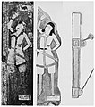 Two-straps suspension dagger worn by the standing painter in the Cave of the Painters, Kizil Caves.jpg
