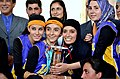 Two Afghan women basketball teams, sponsored by the Afghan Olympic Committee and Kabul City Mayor, played an exhibition game as part of an International Youth Day celebration in Kabul, Afghanistan, Aug 110810-A-XM924-412.jpg
