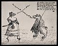 Two bears are greeting one another. Lithograph. Wellcome V0040072.jpg