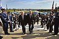 U.S. Defense Secretary Chuck Hagel, left, hosts an honor cordon to welcome Israeli Defense Minister Moshe Yaalon to the Pentagon 141021-D-NI589-024d.jpg