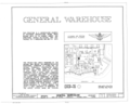 U.S. Naval Air Station, General Warehouse, West Avenue, Pensacola, Escambia County, FL HABS FLA,17-PENSA,71- (sheet 1 of 6).png