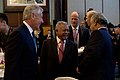 U.S. Secretary of Defense Chuck Hagel, left, laughs with Indonesian Minister of Defense Purnomo Yusgiantoro, center, and Timor-Leste Minister of Defense Kay Rala Xanana at the start of the Shangri-La Dialogue 130531-D-BW835-138.jpg