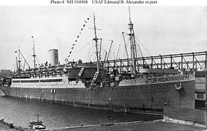 Pepperrell Air Force Base - United States Army troop transport ship Edmund B. Alexander