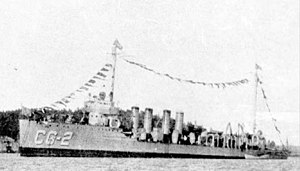 USCGC Conyngham (CG-2), ex-USS Conyngham (DD-58), on Coast Guard service during the Prohibition Era.
