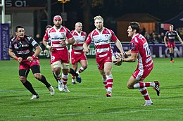 USO-Gloucester Rugby - 20141025 - James Hook carrying the ball 3.jpg