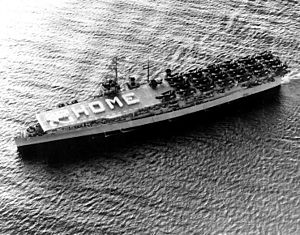 USS Bataan (CVL-29) - Bataan headed for home the final time on 22 May 1953
