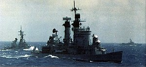 USS Chicago (CG-11) and USS Buchanan (DDG-14) in the Pacific 1979.jpg