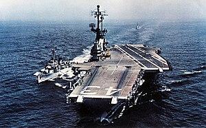 A Ticklish Affair - The ''USS Coral Sea'' (CVA-43) was seen prominently in A Ticklish Affair.