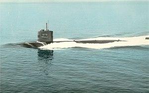 USS Flying Fish (SSN-673) at sea 1972