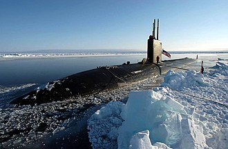 USS Hampton (SSN-767) - USS Hampton (SSN-767) seen at the North Pole in April 2004