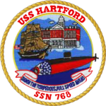 USS Hartford SSN-768 Crest.png