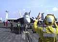 US Navy 020820-N-9593M-054 Super Hornet moves into position for launch.jpg