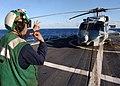 US Navy 021102-N-3235P-511 Shutting down a Sea Hawk helicopter.jpg