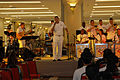US Navy 050304-N-2468S-002 Musician 2nd Class Thomas Horner, center, and the U.S. Seventh Fleet Band perform during a public concert at 1 Utama Mall in Kuala Lumpur, Malaysia.jpg