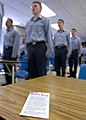 US Navy 050315-N-5576W-001 Students attending Quartermaster A School class 05060, at the Center for Surface Combat Systems, recite the Sailor's Creed at the beginning of the training day.jpg