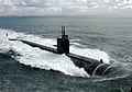 US Navy 050323-N-7615S-027 The Los Angeles-class fast attack submarine USS Salt Lake City (SSN 716) underway after departing Naval Submarine Base Point Loma, Calif., to conduct routine exercises in the Pacific Ocean.jpg
