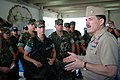 US Navy 050330-N-0962S-027 Master Chief Petty Officer of the Navy (MCPON) Terry Scott speaks to a group of Master-at-Arms during his visit to Guam.jpg