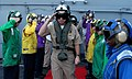 US Navy 050910-N-6495K-108 Chief of Naval Operations Adm. Mike Mullen salutes rainbow sideboys as he departs the Nimitz-class aircraft carrier USS Harry S. Truman (CVN 75).jpg