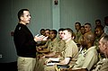 US Navy 070109-N-0696M-217 Chief of Naval Operations (CNO) Adm. Mike Mullen holds an all hands call with students assigned to the Senior Enlisted Academy (SEA).jpg