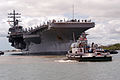 US Navy 070413-N-9698C-021 Nimitz-class aircraft carrier USS Ronald Reagan (CVN 76) departs Pearl Harbor after a scheduled port visit to the Aloha State.jpg