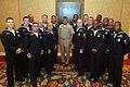 US Navy 080118-N-9818V-067 Master Chief Petty Officer of the Navy (MCPON) Joe R. Campa Jr. poses for a photo with the winners of the 2007 Navy Recruiting Command Summer Heroes Award Campaign during a ceremony at the Ritz Carlto.jpg
