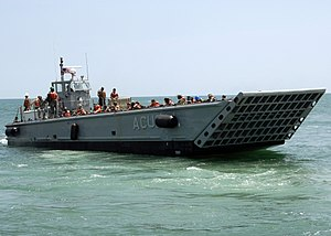 Landing Craft Mechanized - An American landing craft mechanized (LCM) in June 2009.
