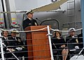 US Navy 091010-N-8273J-109 Chief of Naval Operations (CNO) Adm. Gary Roughead delivers remarks during the commissioning ceremony of the Arleigh Burke class guided-missile destroyer USS Wayne E. Meyer (DDG 108).jpg