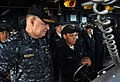 US Navy 100106-N-8273J-252 Chief of Naval Operations (CNO) Adm. Gary Roughead, left, visits with Sailors on the bridge aboard the guided-missile destroyer USS Sampson (DDG 102).jpg