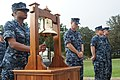 US Navy 110909-N-GZ984-038 Religious Programs Specialist Seaman Sha'Quanda Jacobs rings the bell during commemoration ceremony of the Sept. 11, 200.jpg