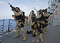 US Navy 111116-N-VH839-138 Saiors aboard USS Wayne E. Meyer (DDG 108) conduct VBSS drills.jpg