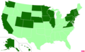 US states by median family income.png