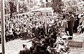 Udeležencem proslave v Mangi pri Planini govori Peter Hlastec 1962.jpg