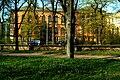 Universität Hannover vom Georgengarten nördlicher Anbau am Welfenschloss Blick über Nienburger Straße.jpg
