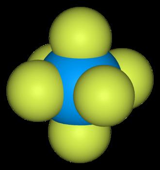 Uranium hexafluoride - Image: Uranium hexafluoride 3D vd W
