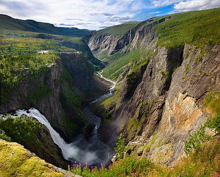 Vøringsfossen in Eidfjord, Hordaland, Norwa