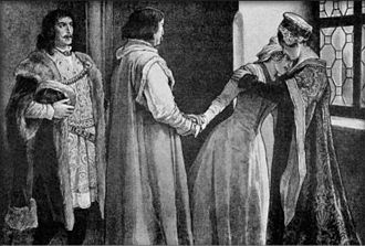 Catherine of Poděbrady - Catherine leaving her father and stepmother to live in Hungary