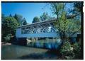 VIEW DUE EAST - Larwood Bridge, Spanning Crabtree Creek, Fish Hatchery Road (CR 648), Lacomb, Linn County, OR HAER OR-124-29 (CT).tif