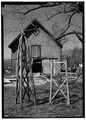 VIEW OF ROSE TRELLIS WITH BARN BEYOND - Timothy Copp Rose Trellis and Barn, Sinclairville, Chautauqua County, NY HABS NY,7-SINC,1A-1.tif