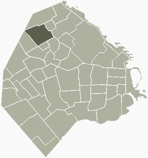 Villa Urquiza - Image: V Urquiza Buenos Aires map