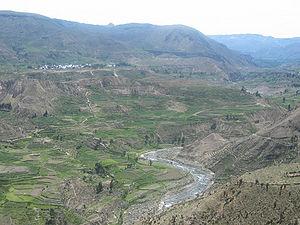 Colca River - Colca valley