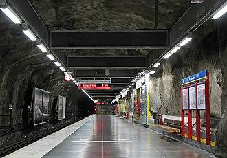 Västra skogen metro station - Image: Vastraskogen