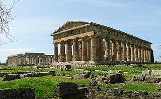 Paestum ancient Greek city in todays Capaccio Paestum, Italy