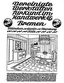 Vereinigte werkst tten f r kunst im handwerk wikipedia for Innendekoration 1902